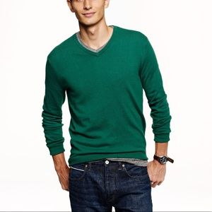 J. Crew Men's Cotton Cashmere V-Neck Sweater